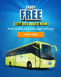 Enjoy FREE Rides with Wing and CityBus Card