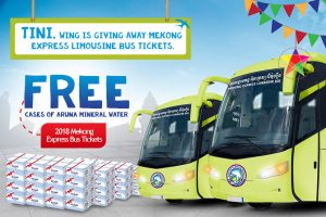 Wing Gift for its Valued Customers, Free 2018 Mekong Express Limousine Bus Tickets