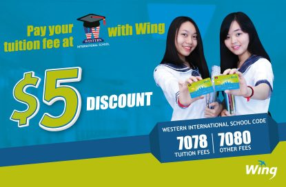 Get $5 off on Your Child's Western International School Fee When You Pay Through Wing