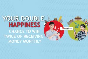 Enjoy your double happiness, get chance to win twice of receiving money from MoneyGram monthly.