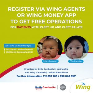 Wing and Smile Cambodia join together to support the patients with Facial Deformities
