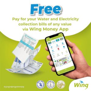 Enjoy ZERO FEE Utility Bill Payments via Wing Money App!