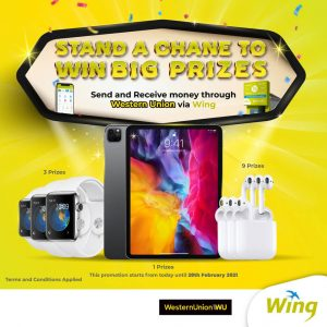 Stand a chance to win iPad Pro when doing international money transfer with Western Union via Wing