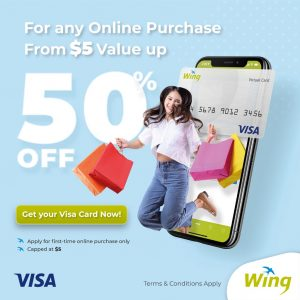 Wing Virtual Visa Card 2 in 1 Promotion